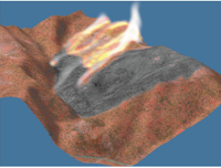 Visualization of wildfire simulations